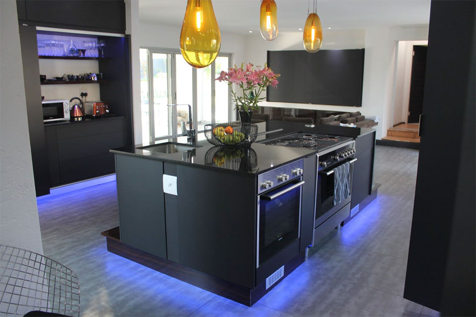Sherwood Kitchens Blue & Black 2