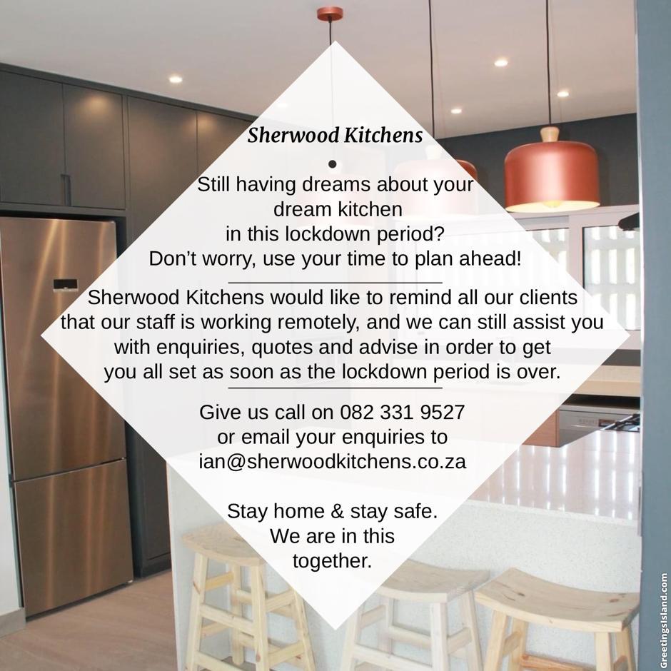 Sherwood Kitchens open during lock down